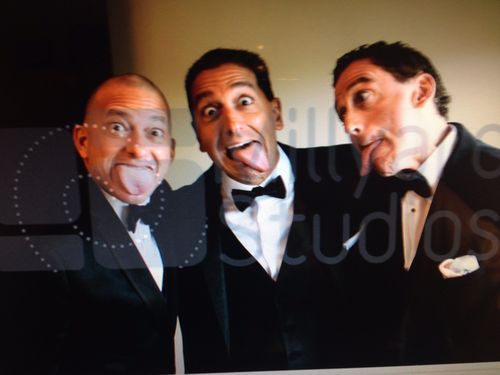 3 Stooges Acting up before Joe's wedding